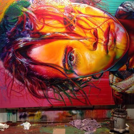 Stephen Bennett Portrait, work in progress, Tamaqua live work studio