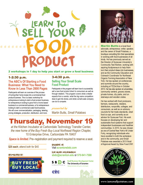 Sell Your Food Product 11-19