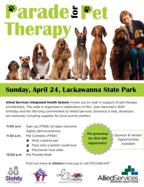 pet therapy flyer