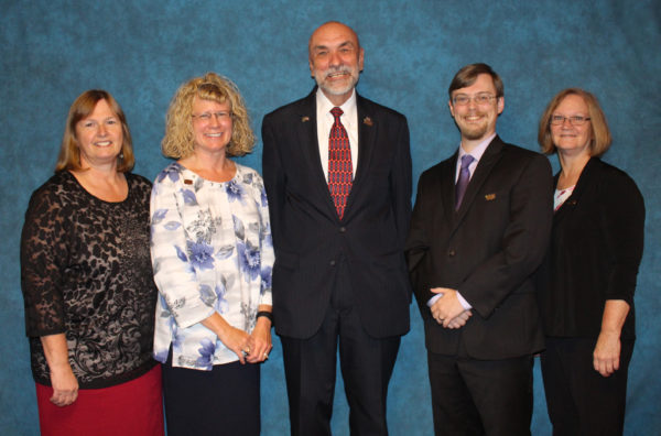 Pictured are (l to r): Jeanne Eldred, Vicky Shuman, William Schweighofer, Sam Corey, and Cheryl Price.