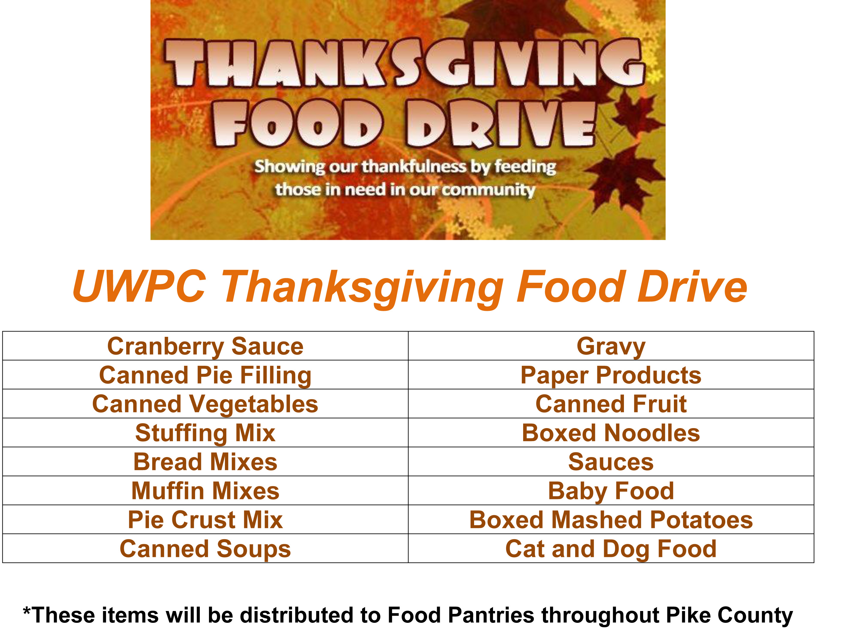 United Way of Pike County holds Food Drive ...