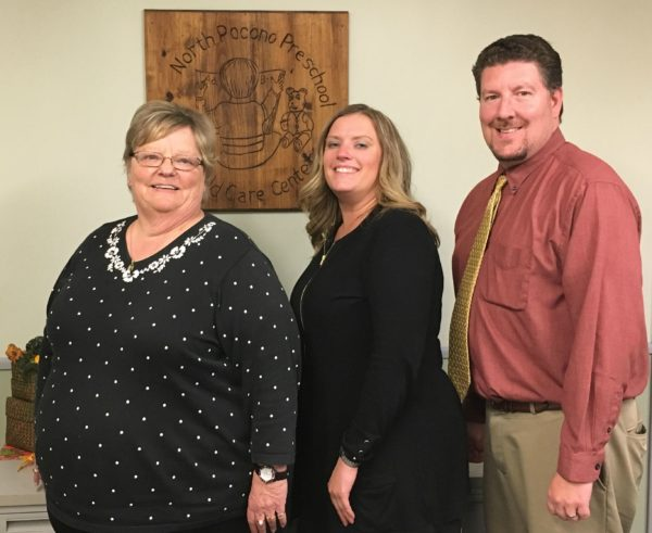 Pictured from left to right, Rachel Gress, Moscow, Jennifer McCambridge, Scranton and Andrew Seder, Gouldsboro were recently appointed to North Pocono Preschool and Child Care Center's board of directors for the 2016-2017 year.